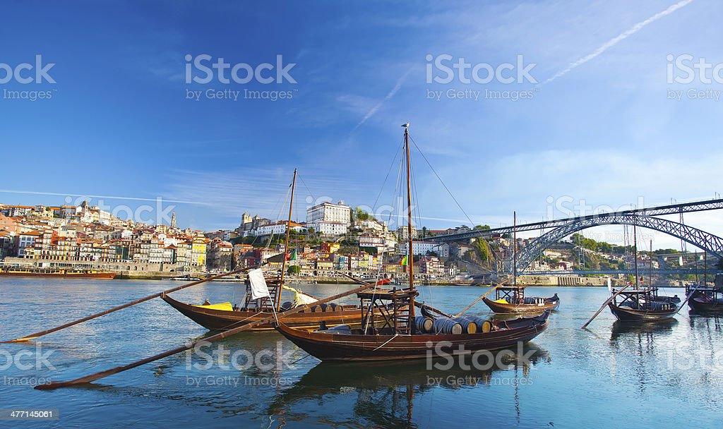 Ancient Boat in Porto, stock photo