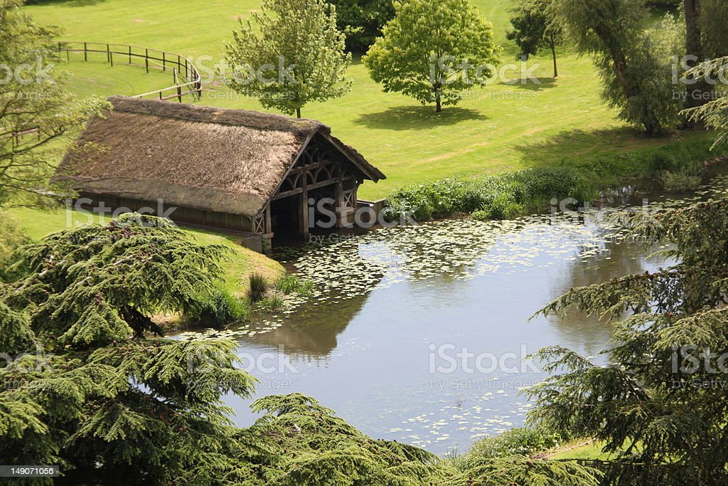 Ancient Boathouse stock photo