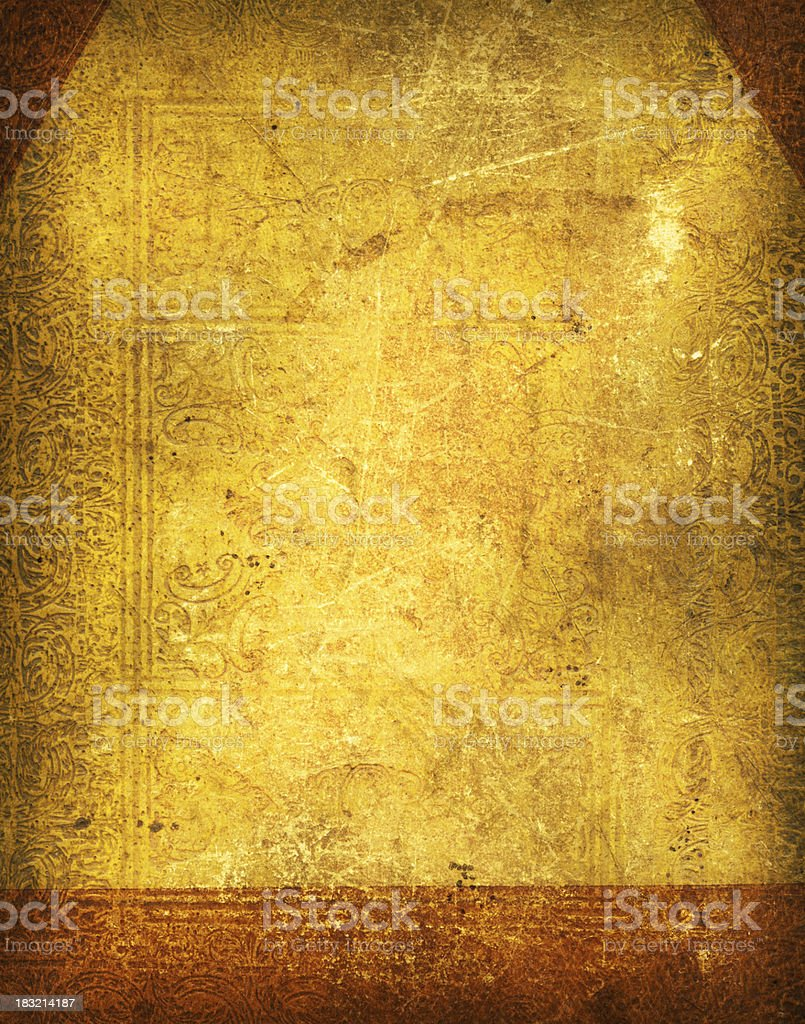 Ancient book cover stock photo