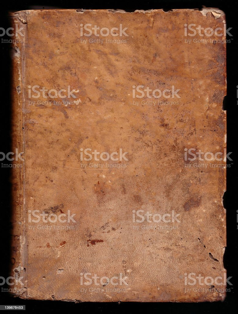 ancient book cover (18th) XL stock photo