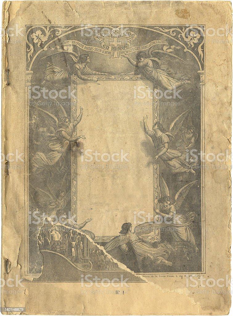 Ancient book stock photo