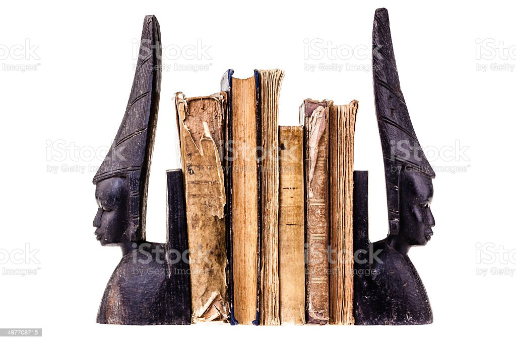 Ancient books stock photo