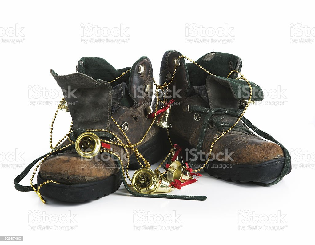 Ancient boot royalty-free stock photo