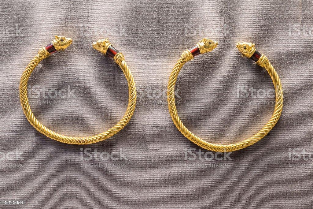 Ancient bracelets stock photo