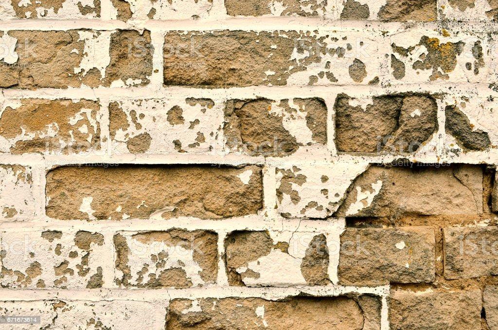 Ancient Brick Wall. Old Brick Wall Texture stock photo