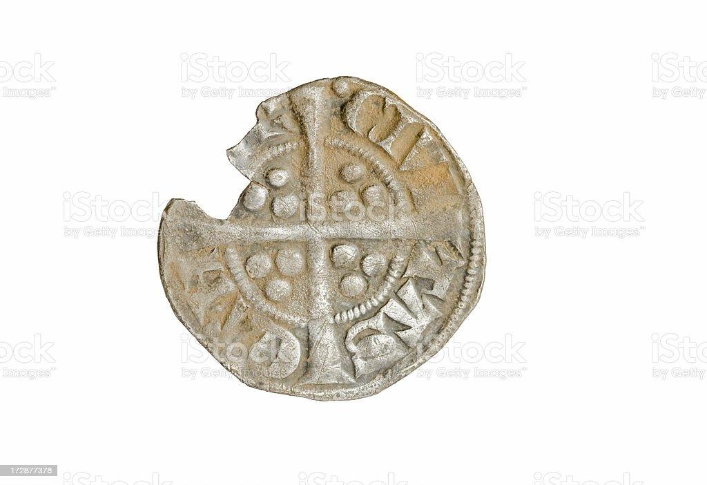 Ancient British Coin - Edward III royalty-free stock photo