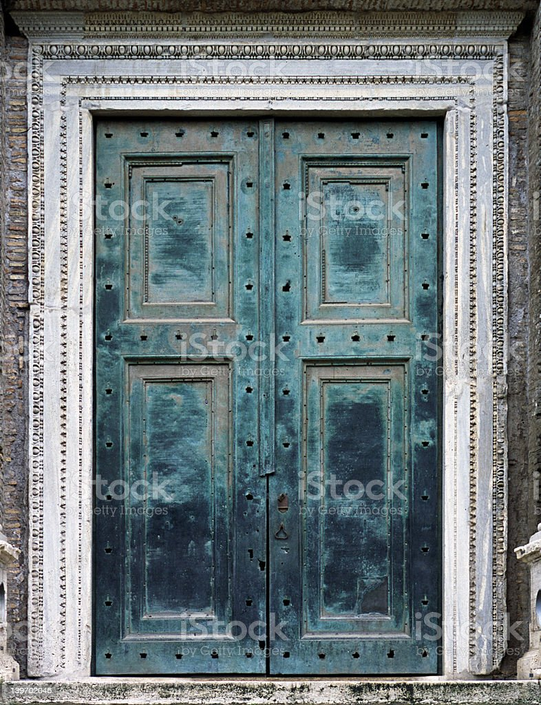 Ancient Bronze Doors 1 royalty-free stock photo