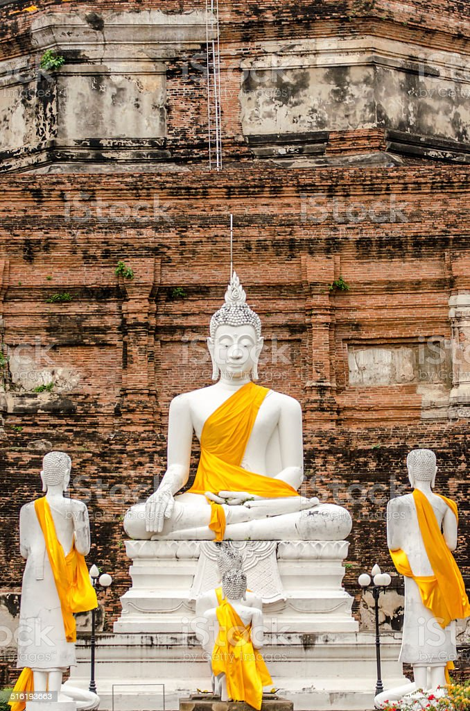 Ancient Buddha, Ayutthaya, Thailand stock photo