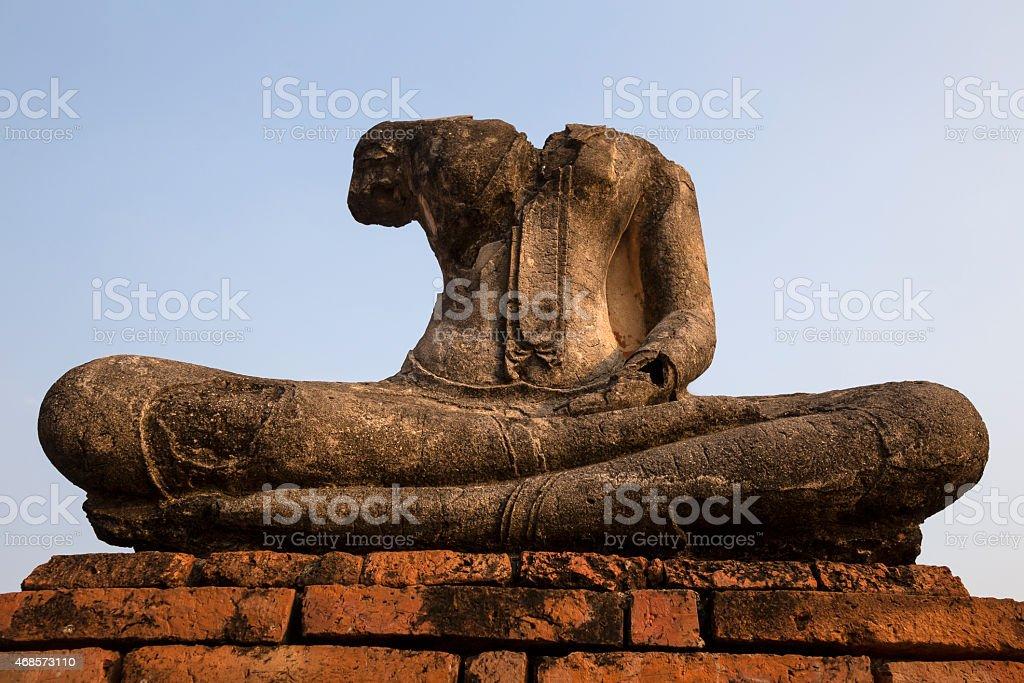 Alte Buddha Bild in Ayutthaya, Thailand Lizenzfreies stock-foto