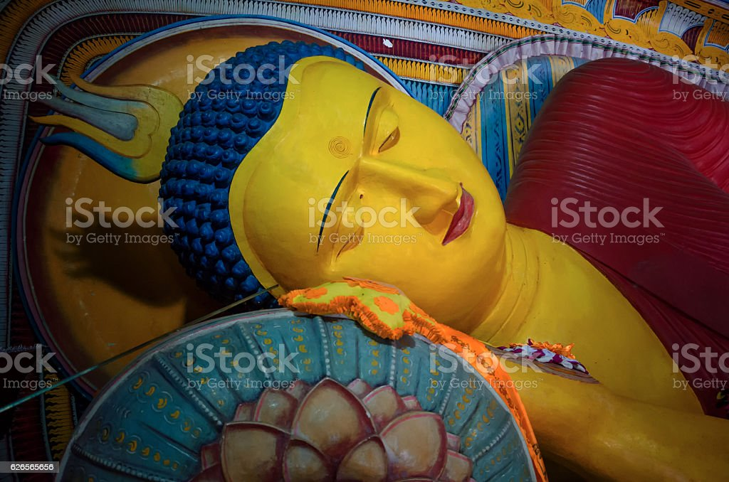 Ancient Buddha image in annaradapura stock photo