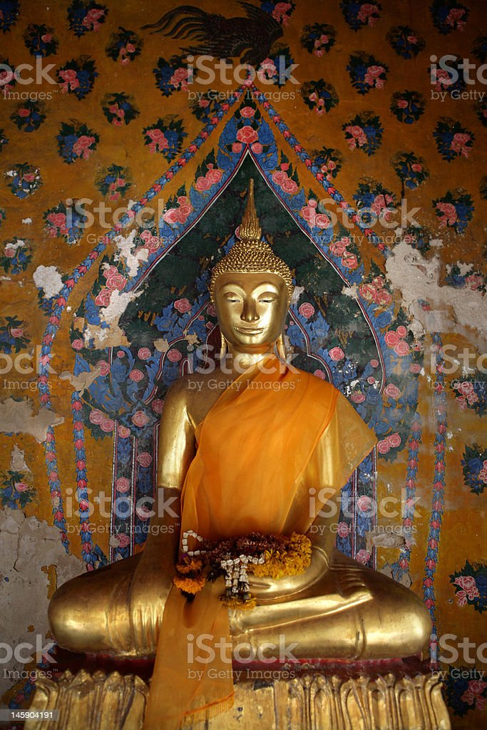 Ancient buddha image. Wat Arun temple. Bangkok. Thailand. royalty-free stock photo