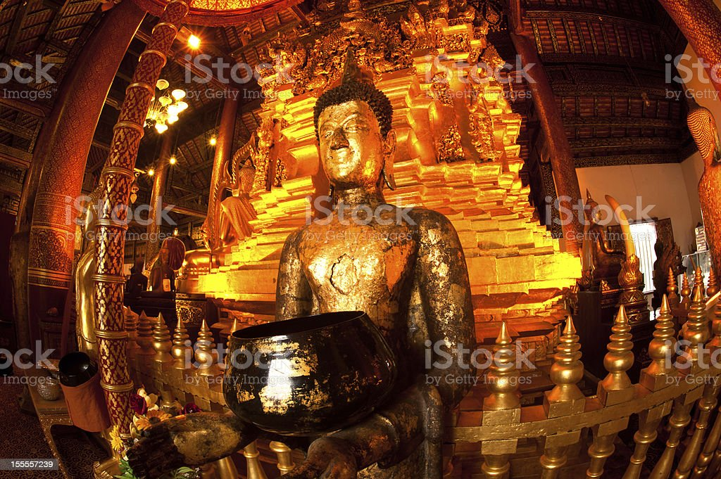 Ancient buddha in church . royalty-free stock photo
