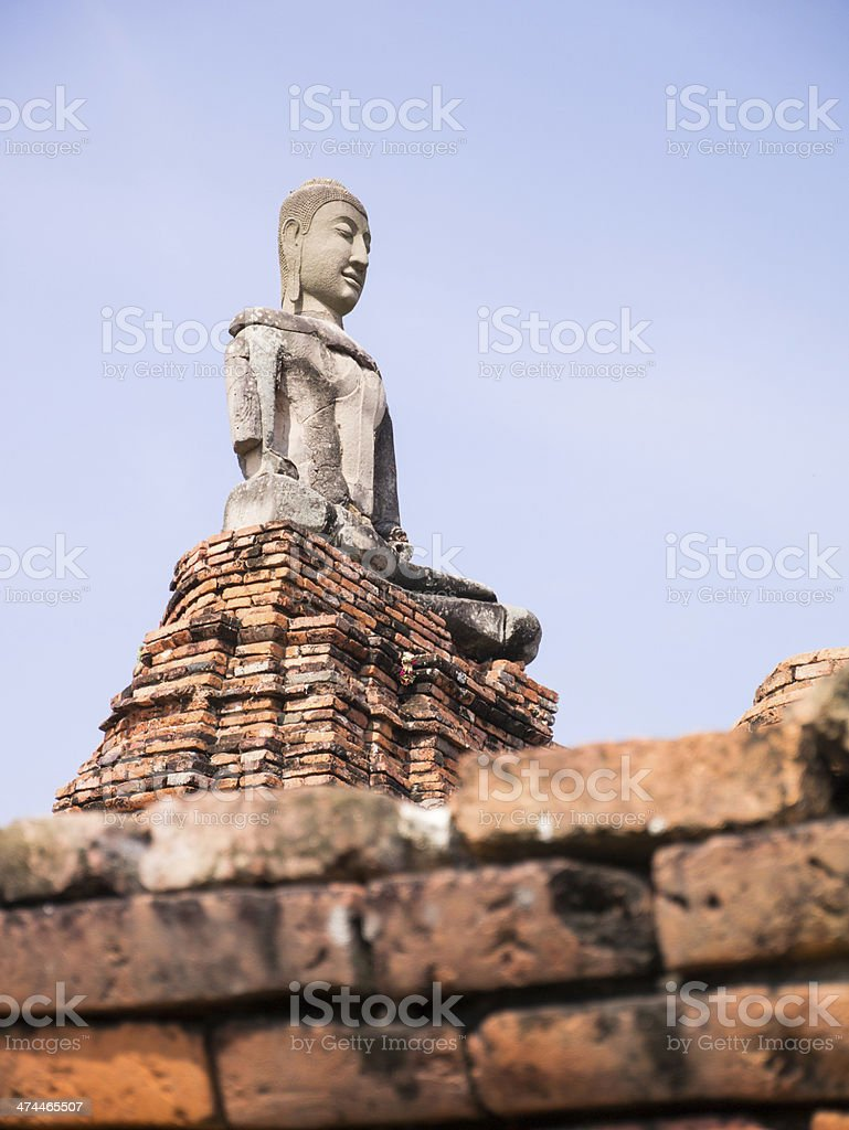 ancient buddha statue royalty-free stock photo