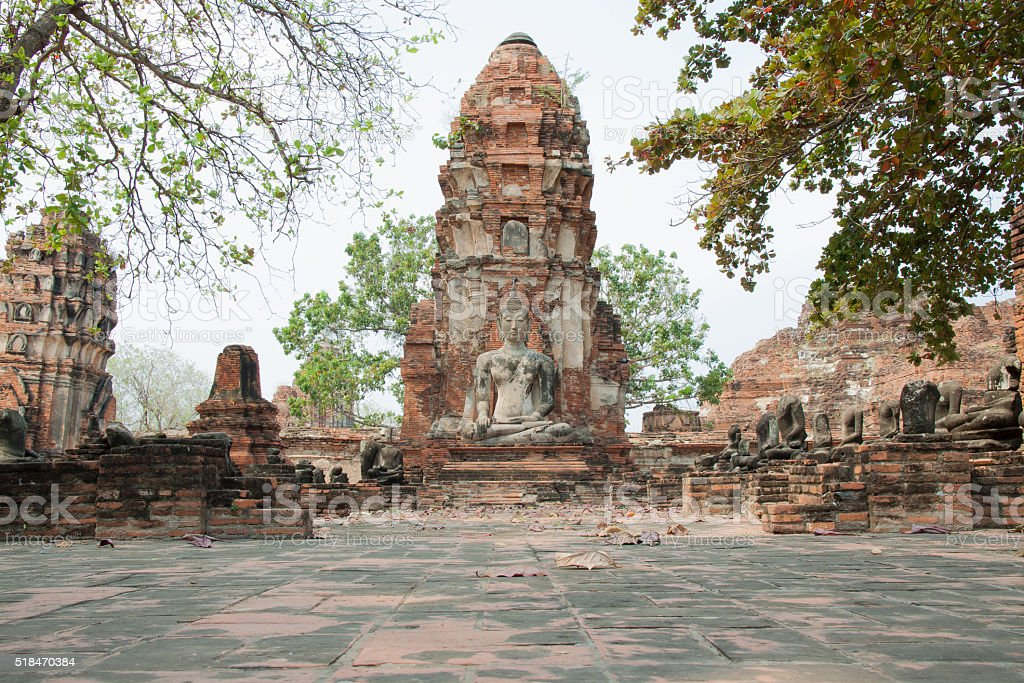 Ancient buddha statue royalty-free stock photo