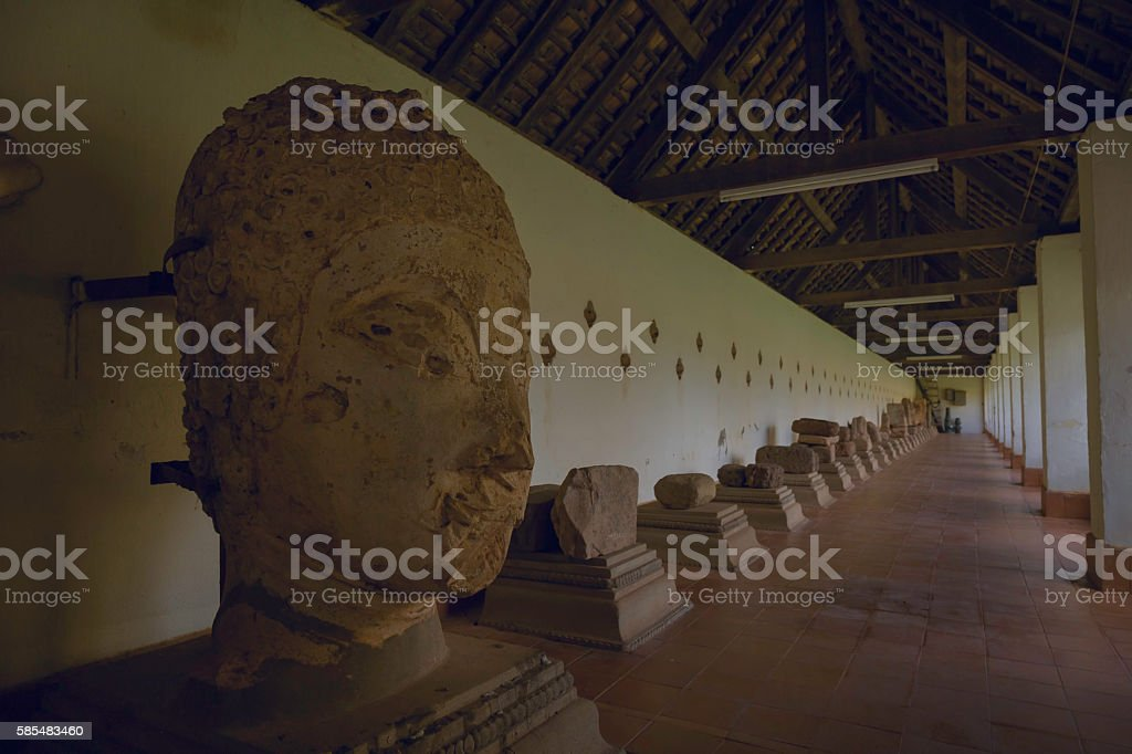 Ancient buddha Statue That Luang Stupa stock photo