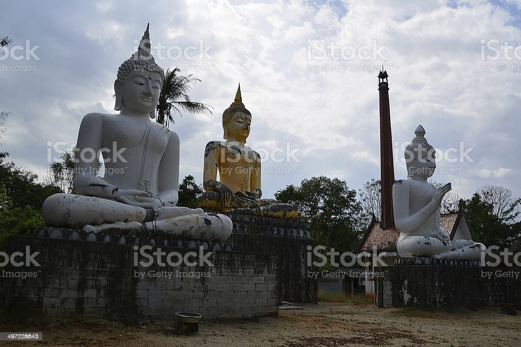 Ancient Buddha statue, Trang Province - Thailand stock photo