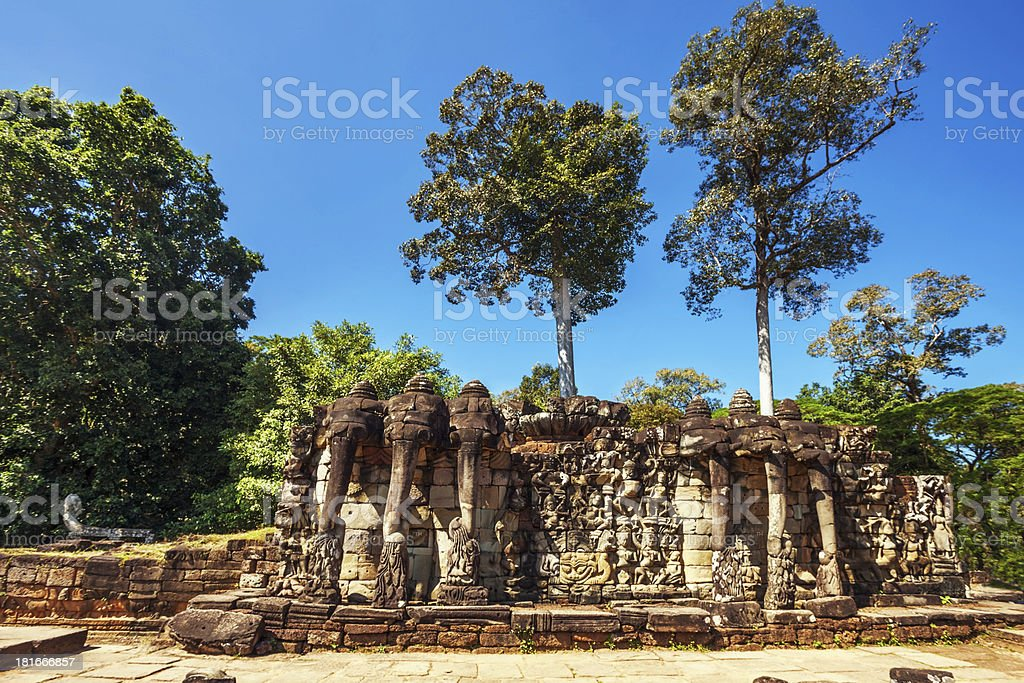 Ancient buddhist khmer temple in Angkor Wat complex royalty-free stock photo