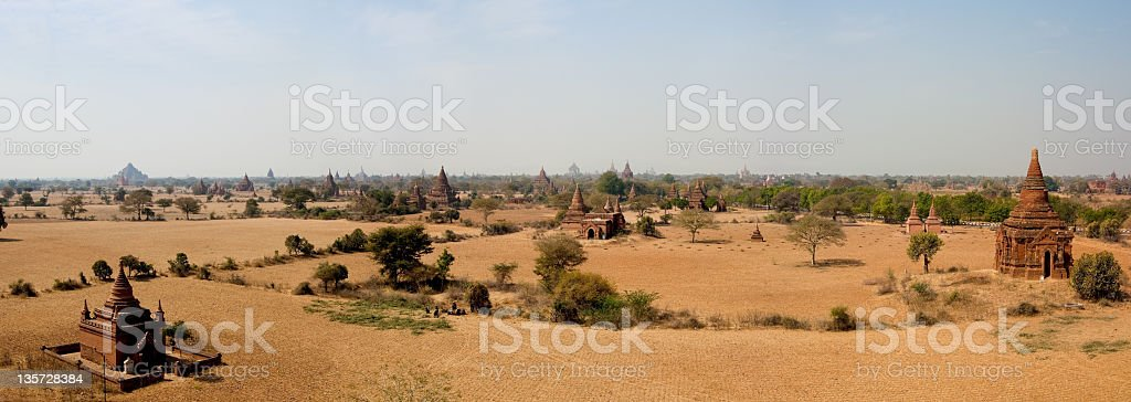 Ancient Buddhist Pagoda in Bagan, Myanmar (Burma) travel destination royalty-free stock photo