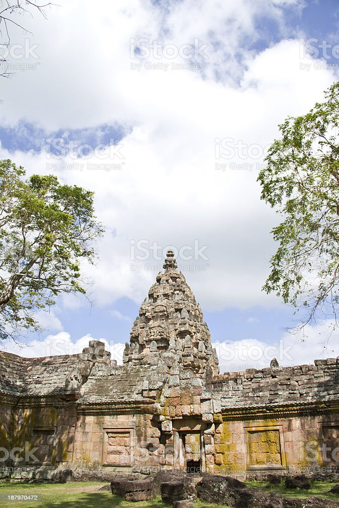 Ancient buddhist temple in koa panomrung, Thailand royalty-free stock photo