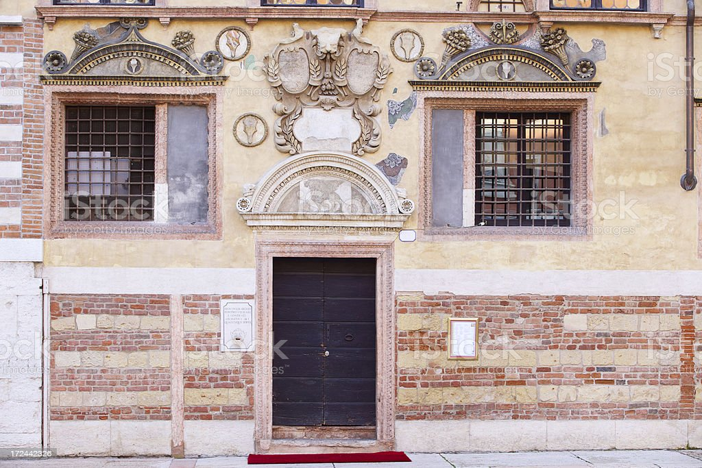 Ancient building facade in Square of Lords. Verona-Italy. royalty-free stock photo