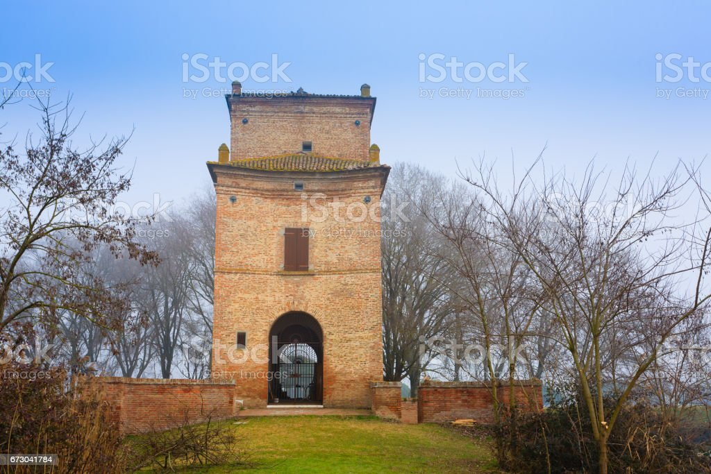 Ancient building from Po river lagoon, Italy stock photo
