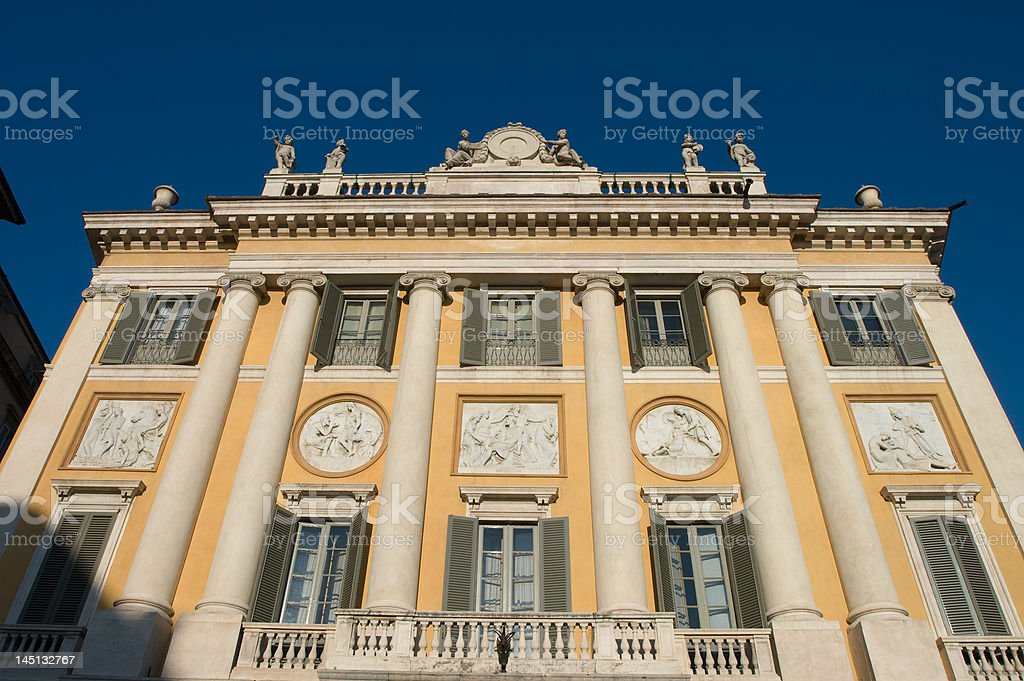 Ancient building stock photo