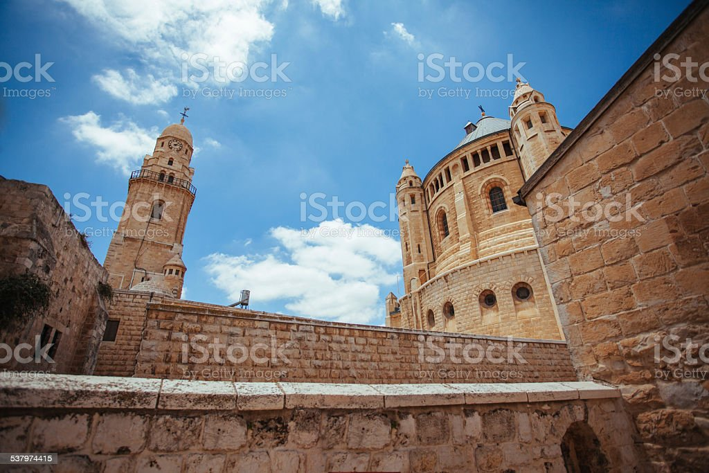 Ancient buildings and the blue sky stock photo