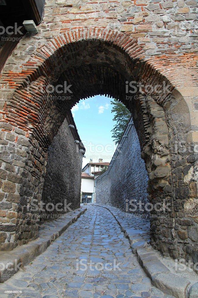 Ancient Byzantine Gate - Plovdiv stock photo