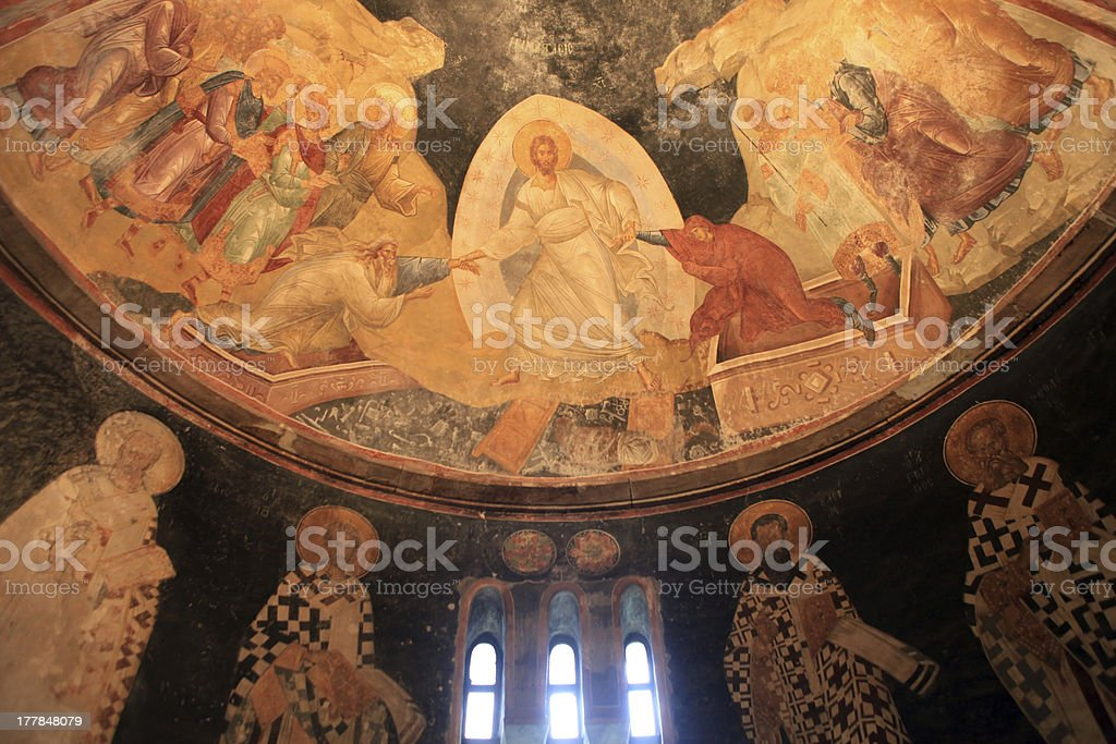 Ancient Byzantine Mosaic royalty-free stock photo