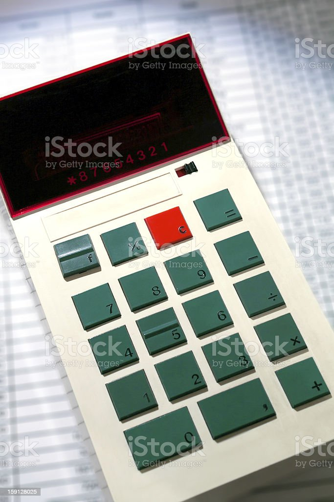Ancient calculator royalty-free stock photo