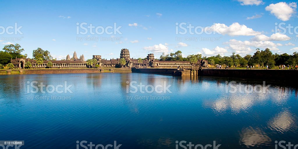 Ancient Cambodian Temple Ruin Grand Palace Concept stock photo