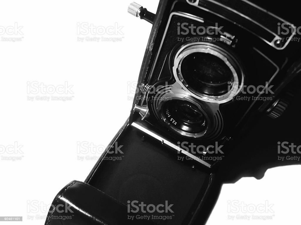 ancient camera b/w stock photo