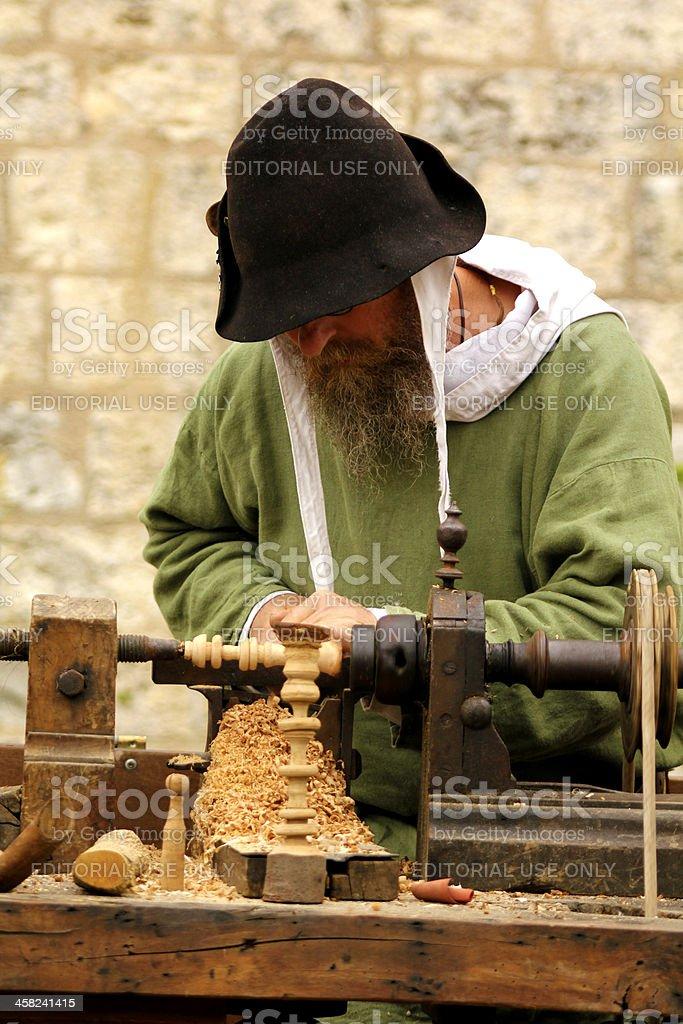 Ancient carpenter royalty-free stock photo