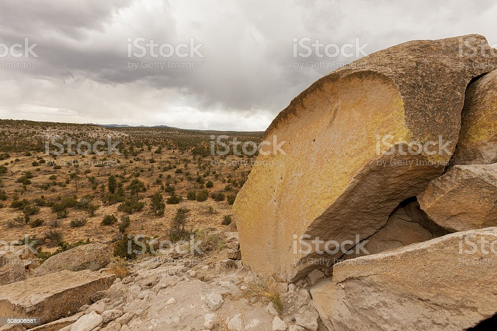 Ancient Carvings stock photo
