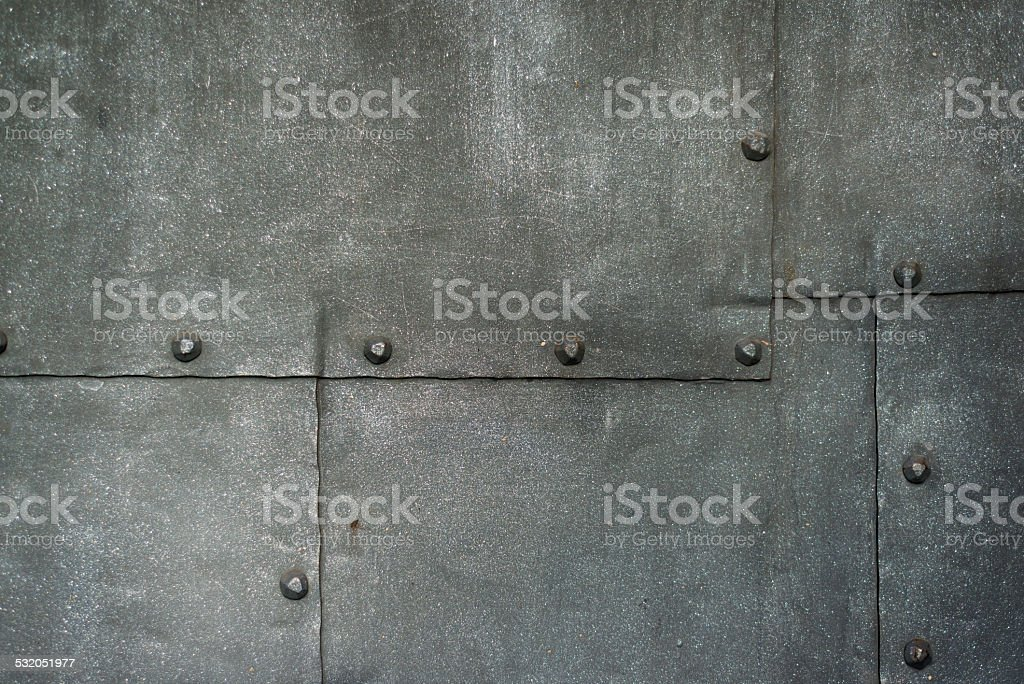 Ancient Cast Iron Door Background stock photo