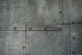 Ancient Cast Iron Door Background