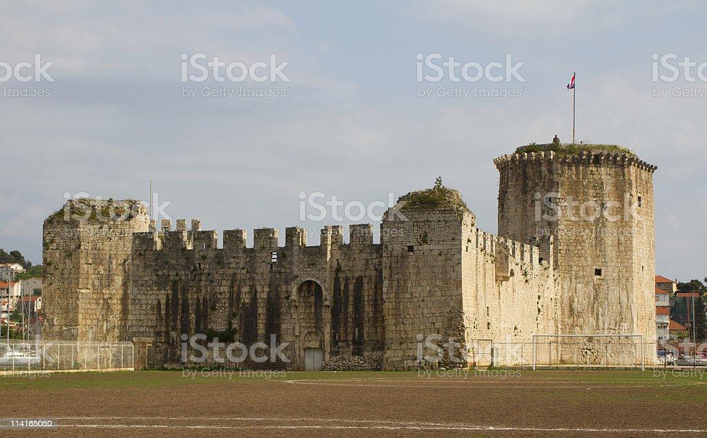 Ancient castle in Trogir, Croatia stock photo