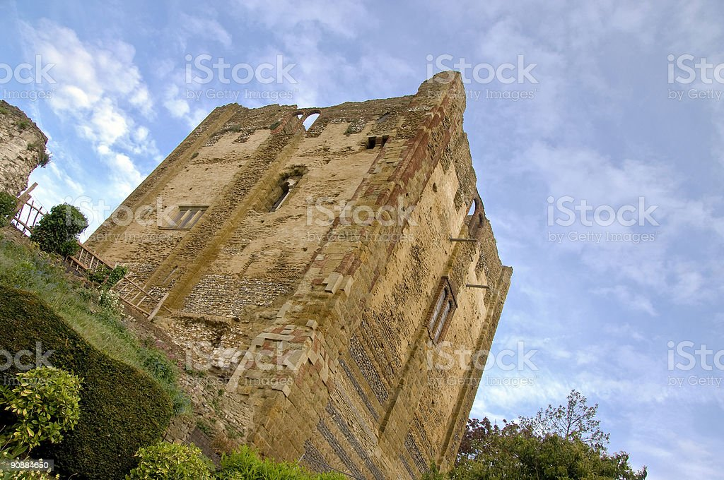 Ancient castle keep royalty-free stock photo