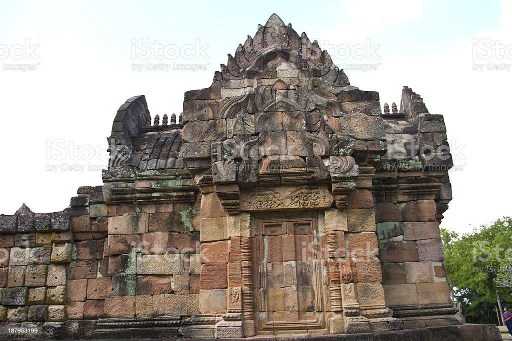 ancient castle panomrung at Burirum , Thailand royalty-free stock photo