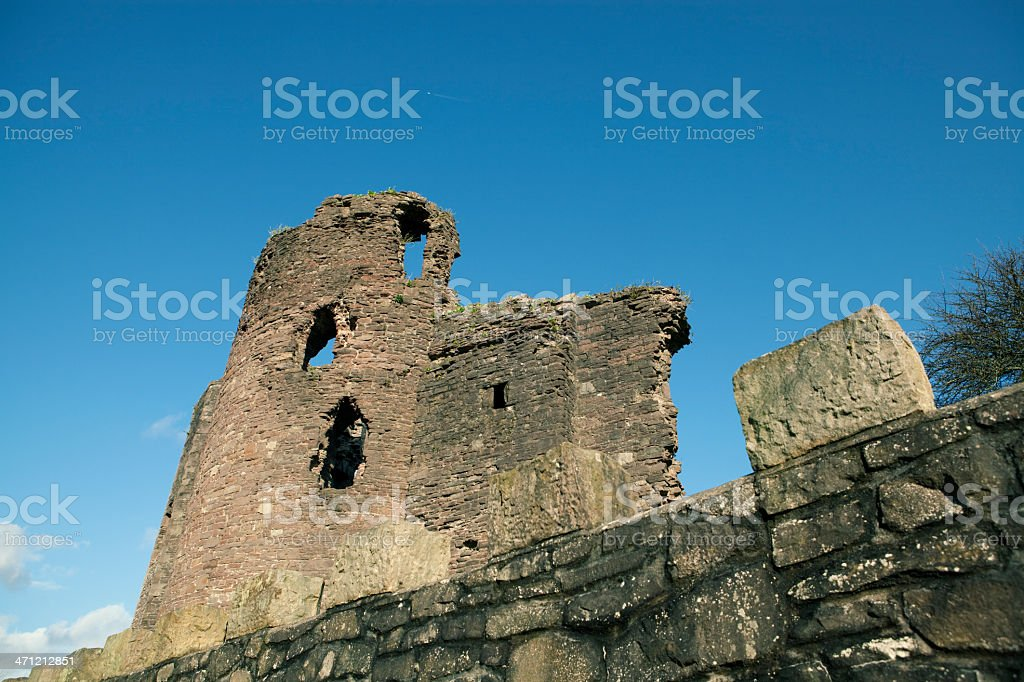 ancient castle ruins stock photo