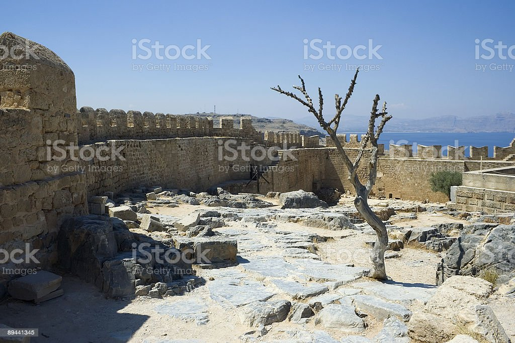 Ancient castle ruins royalty-free stock photo