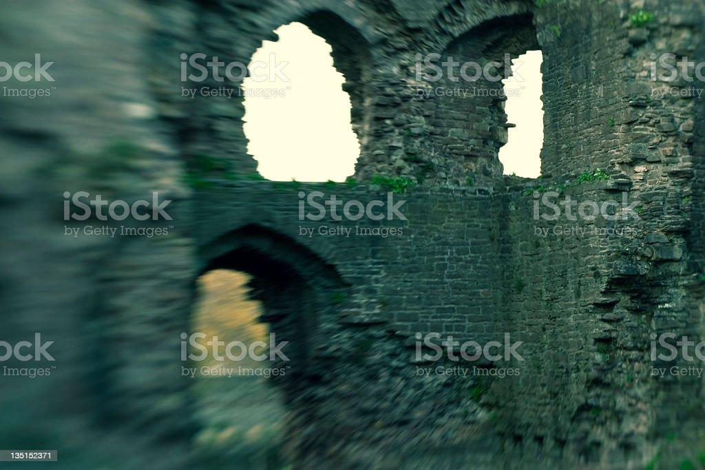 ancient castle windows stock photo
