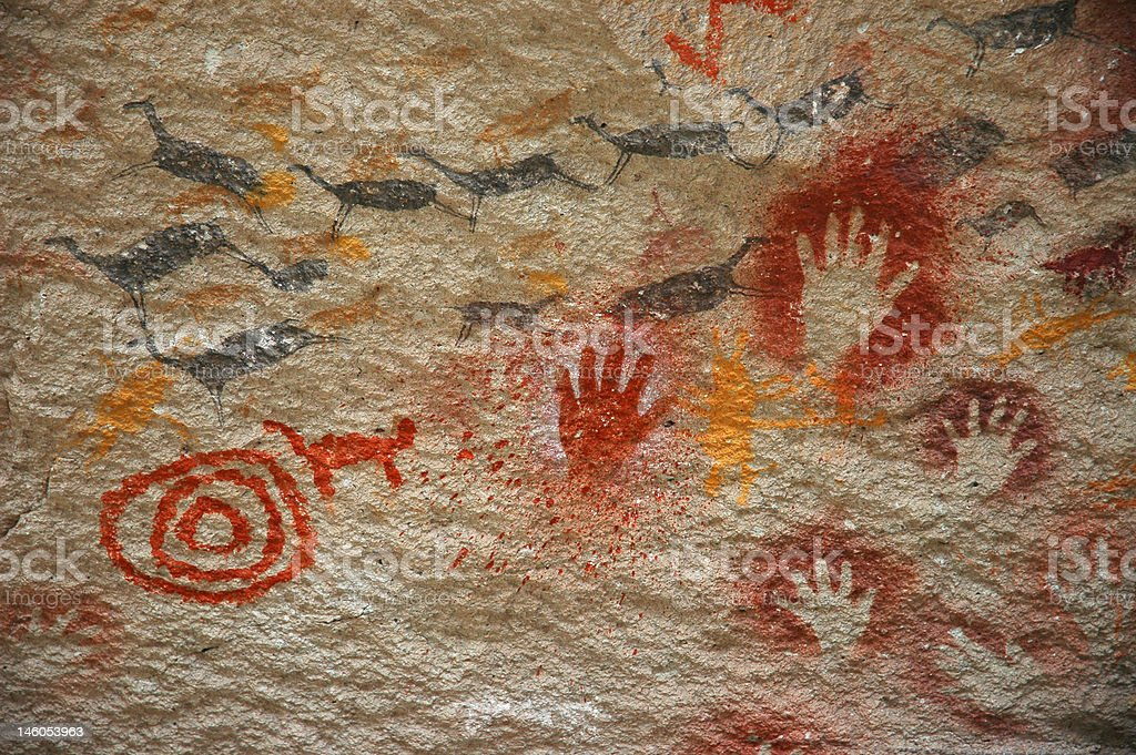 Ancient Cave Painting stock photo