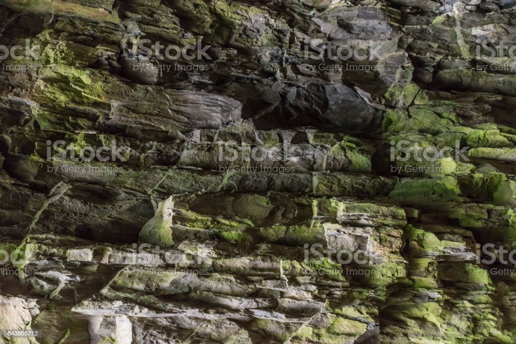 Ancient Cave Wall stock photo