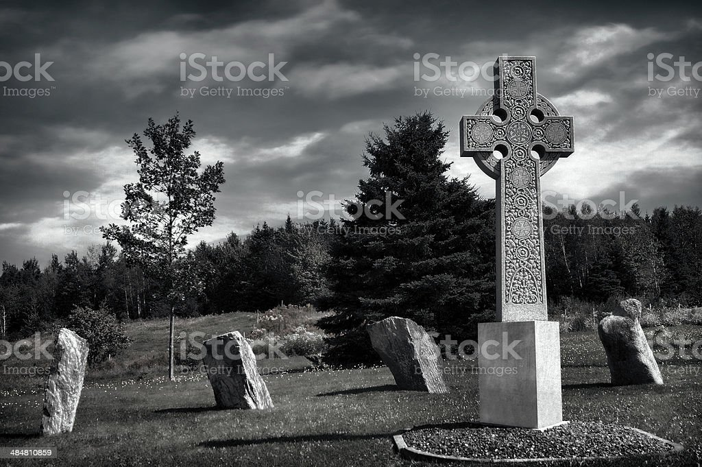 Ancient Celtic Cemetery, HDR effect royalty-free stock photo