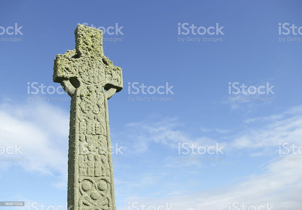 Ancient celtic cross royalty-free stock photo