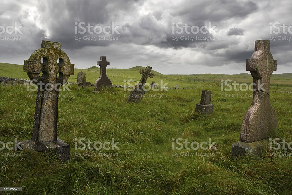 Ancient Celtic gravesite stock photo