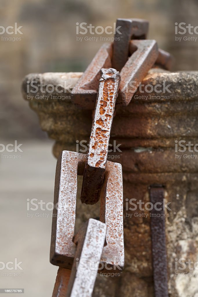 Ancient chains. royalty-free stock photo