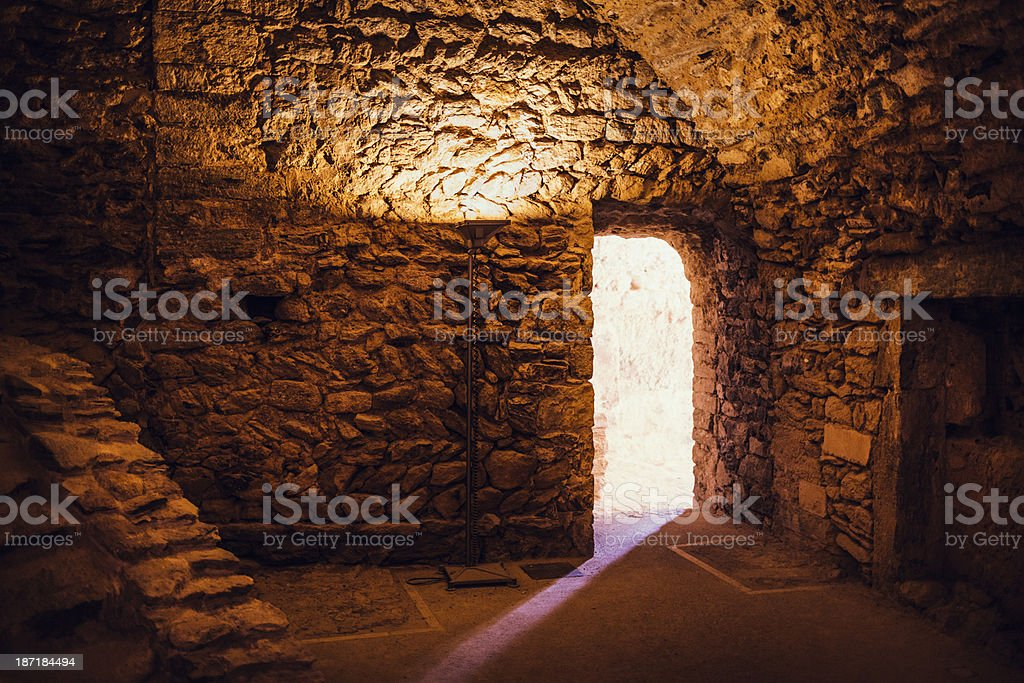 Ancient chamber stock photo
