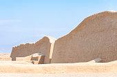 Ancient Chimor Walls At Chan Chan Near Trujillo In Peru